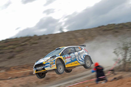 RMC Motorsport: nueve coches en el parque cerrado de fin de rallye en Lorca.